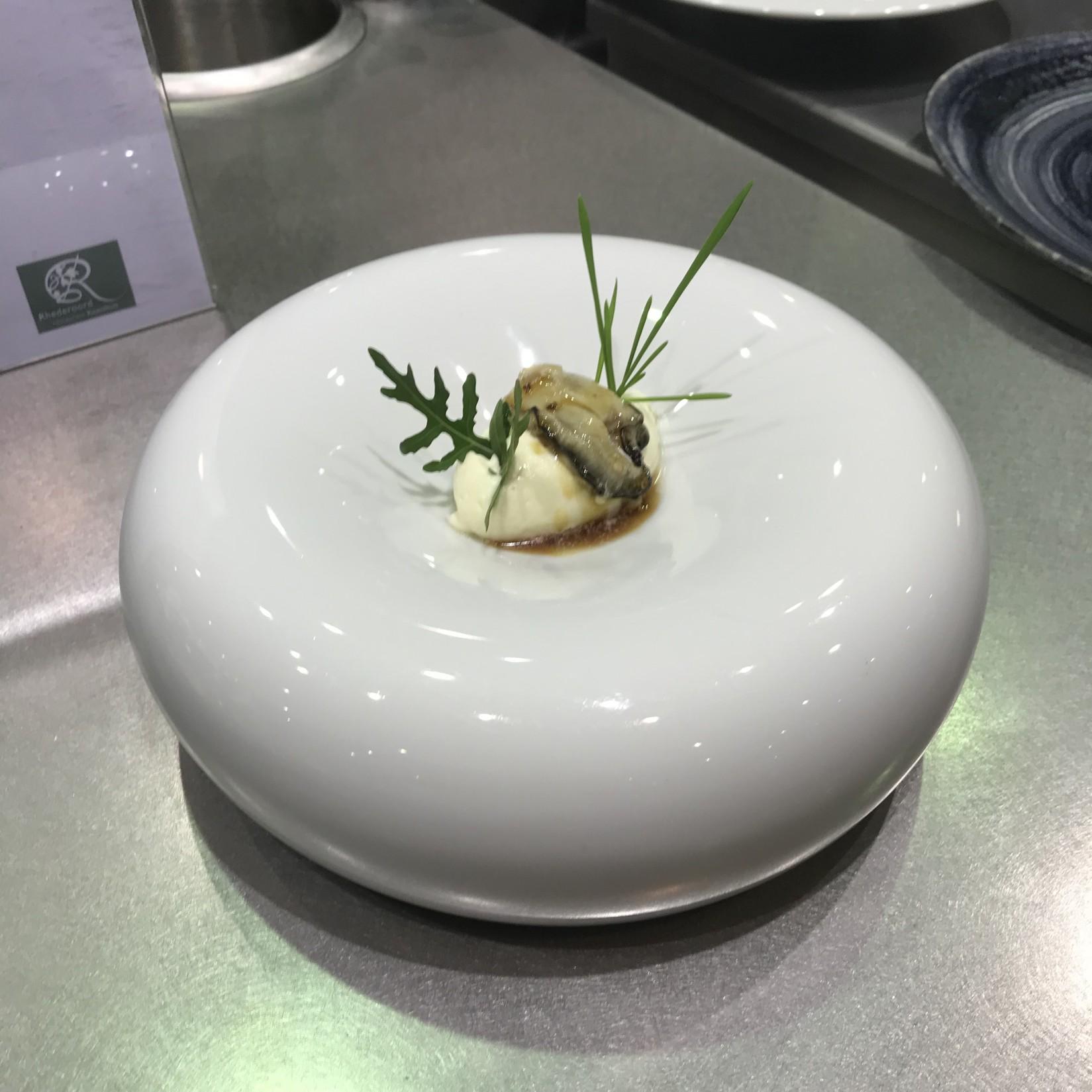 Aardappelmousse met oesters
